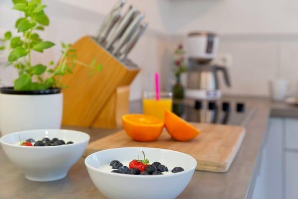 Genießen Sie Ihre liebevoll zubereiteten Speisen gemeinsam - nach einem erholsamen oder auch erlebnisreichen Urlaubstag .....