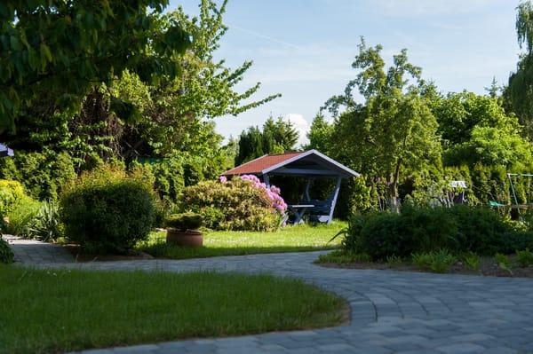 Garten mit Grillecke