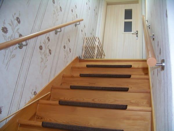 Treppenaufgang zur Ferienwohnung,