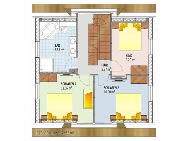 Grundriss/Einrichtung Obergeschoss