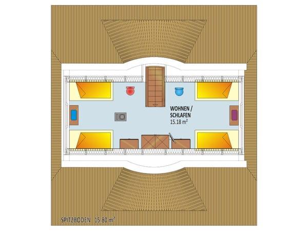 Grundriss/Einrichtung Spitzboden