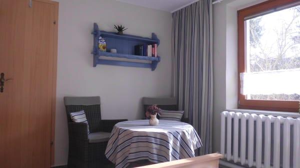 gemütliche Sitzecke im Appartement