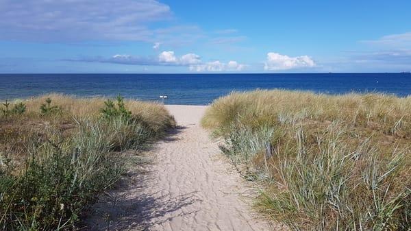 idyllischer Strandaufgang Ostseebad Göhren