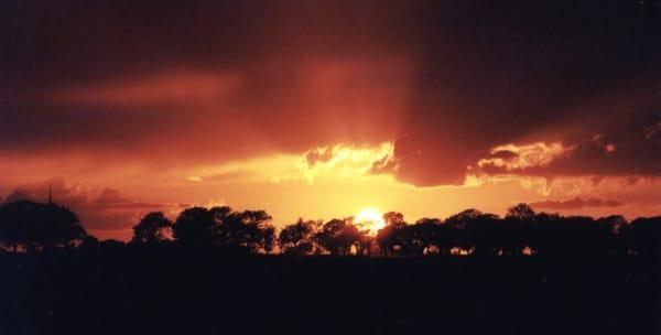 Sonnenuntergang vom Wohnzimmer aus zu sehen