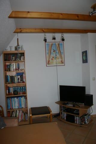 Flachbildschirm, WLan Radio und DVD Player mit vielen DVD´s