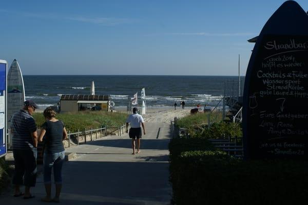 Abgang zum Strand