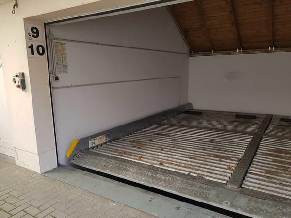 Duplexgarage (maximale Fahrzeugmaße beachten)