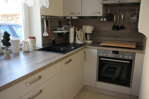 Küchenbereich im Wohnzimmer