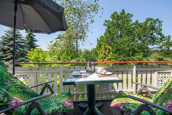 Auf dem Balkon genießen Sie die Nachmittags- und Abendsonne!