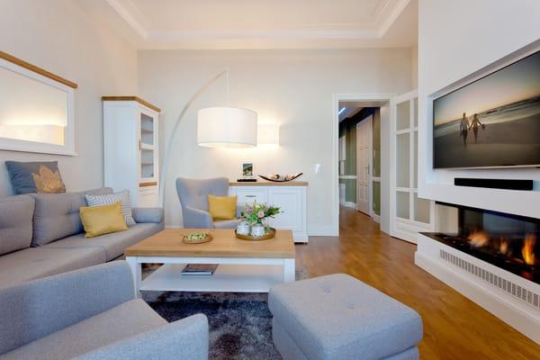 Dank der Großzügigkeit und der idealen Raumaufteilung ist das Appartement im 1. OG der Villa das ideale Urlaubsdomizil für bis zu 5 Personen.