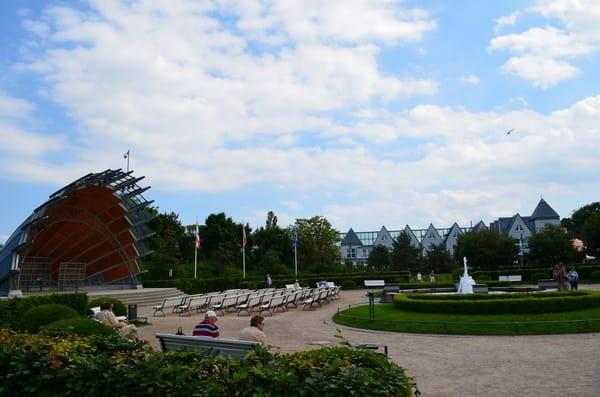 Veranstaltungsort Konzertmuschel , an der Heringsdorfer Seebrücke