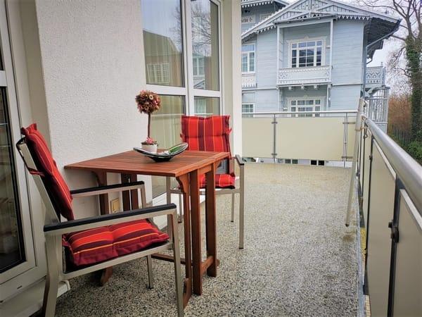 Balkon vom Wohn und Schlafzimmer begehbar