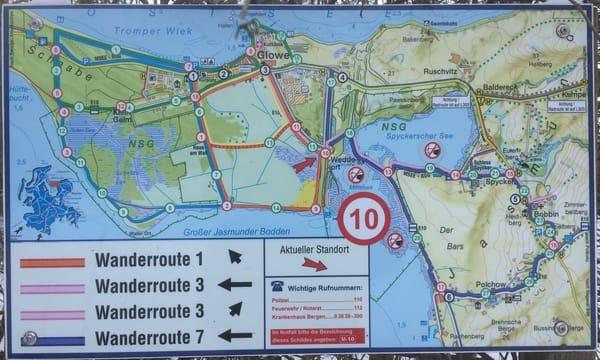 Umgebungskarte - viele Wander- und Radwege