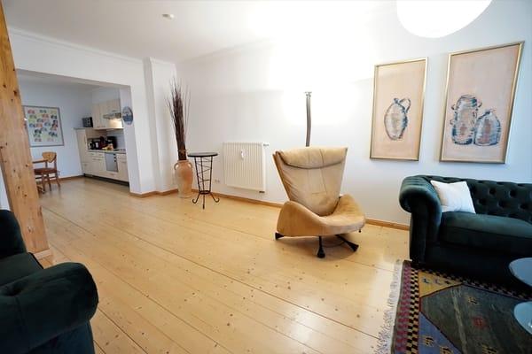 Untere Etage - Wohnbereich mit offener Küche