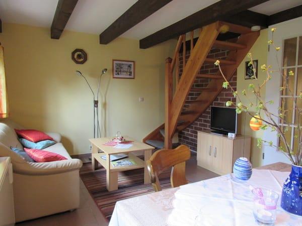 Wohnraum, Blick zur Treppe