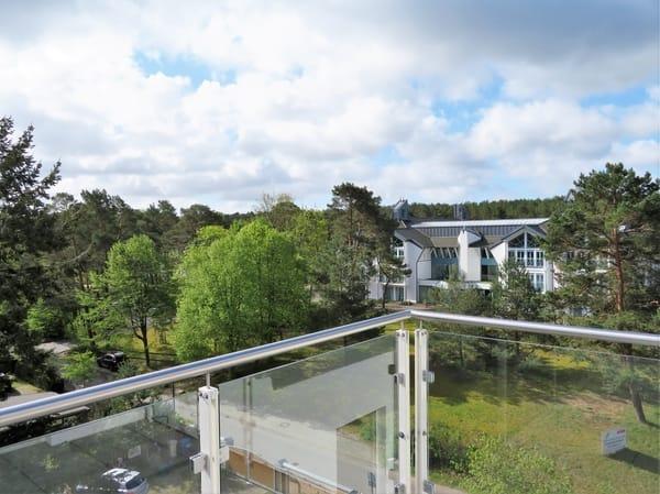 Blick vom Balkon Landseite