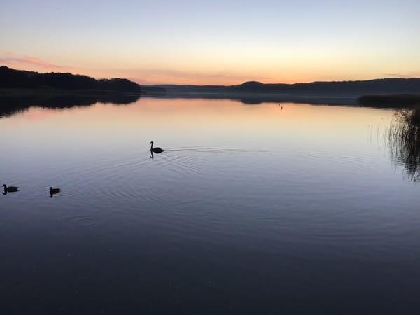 Abenddämmerung am Schmachter See