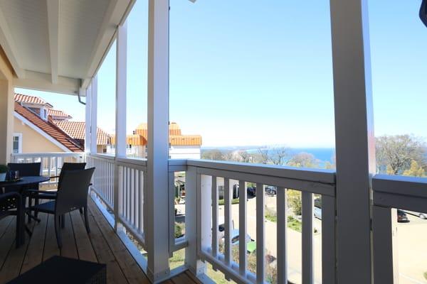 Hoch über den Dächern Göhrens im Strandkorb den Tag entspannt ausklingen lassen...