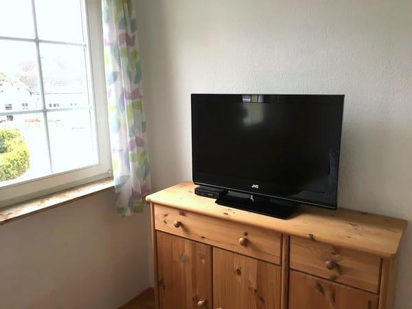 Fernseher im zweiten Schlafzimmer