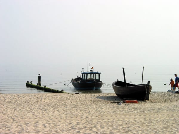 Fischerbote am Strand