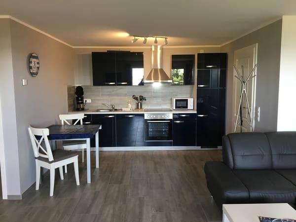 Typ 1 oben Küchenbereich mit Südbalkon und tollem Wasserblick