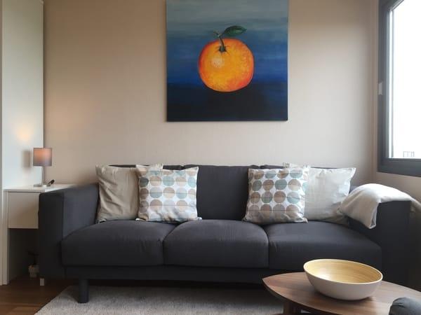 Großzügige Couch