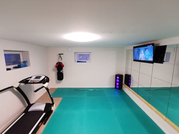 Sportraum im Untergeschoss
