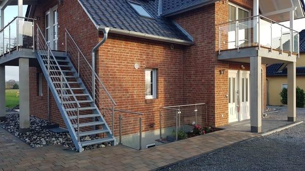 Fewo Rügen 1 Balkon, Zugang Saunabereich im Untergeschoss