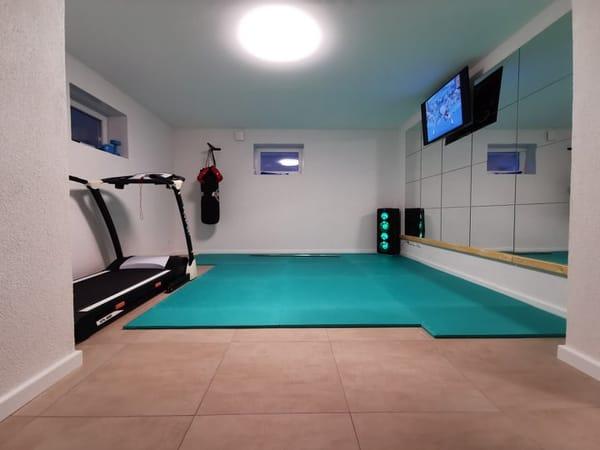 Fitness im Untergeschoss