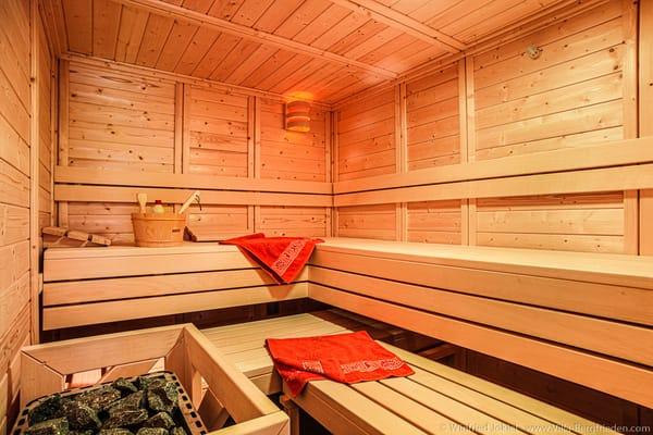 Sauna in der Villa Bergfrieden Süd