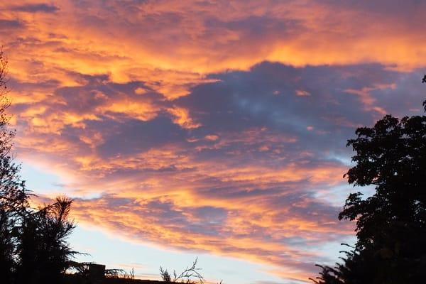 Abendhimmel gesehen von der Terrasse