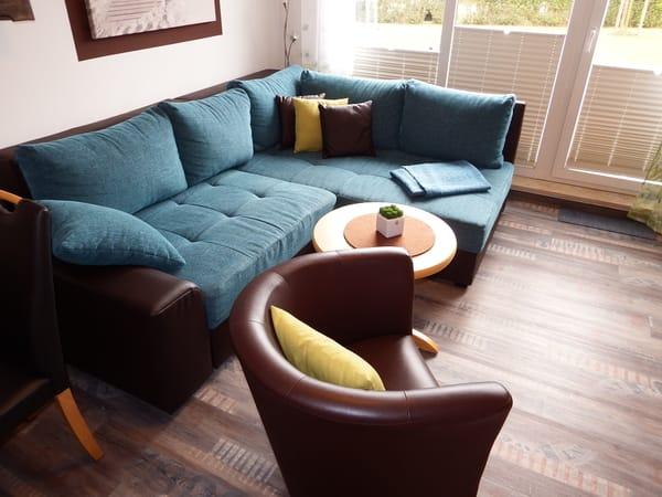 NEUE Sofa- und Sesselecke (hochwertige Boxspringfederung)
