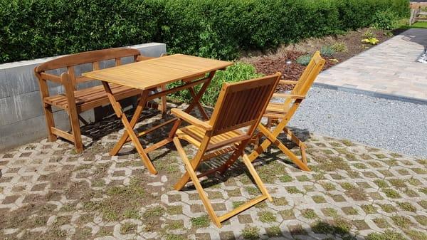 Terassenbereich mit Sitzecke Ferienwohnung Rügen 3