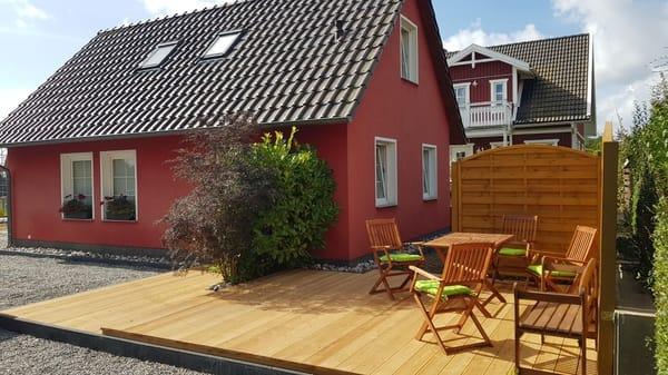 Terrasse Ferienunterkunft Rügen 3