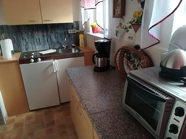 Miniküche im Eingangsbereich