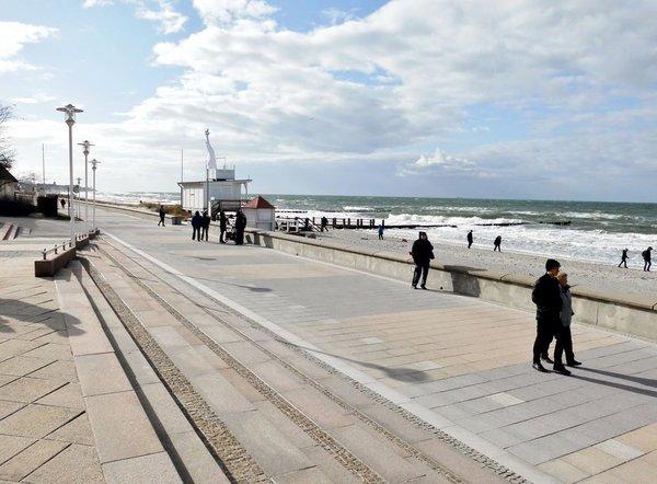 Die längste Strandprommenade - immer mit Blick auf die Ostsee