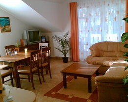Wohnbereich mit Küchenzeile, TV, Radio, DVD-Player