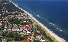 """Luftaufnahme der Ferienwohnungsanlage """"Ostseeblick"""""""