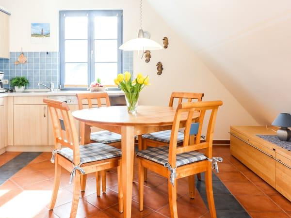 Die offene Wohnküche mit viel Licht und Platz