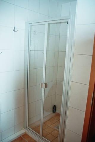 fast ebenerdige große Dusche