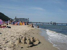 Strand mit Seebrücke - Erholung und Ostsee pur