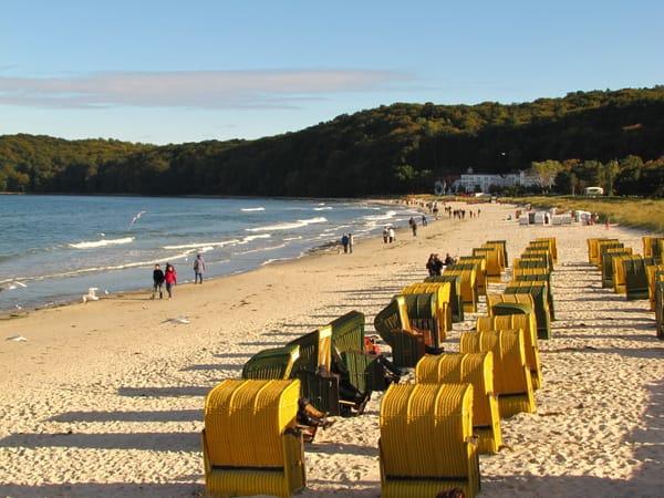 Der Strand in Binz im Oktober
