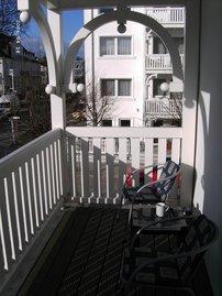 von der Küche auf den 2. Balkon