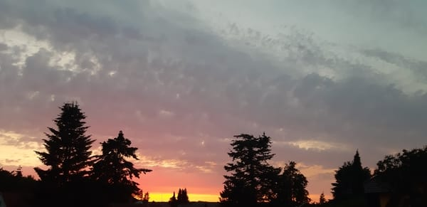 Abendhimmel mit Sonnenuntergang