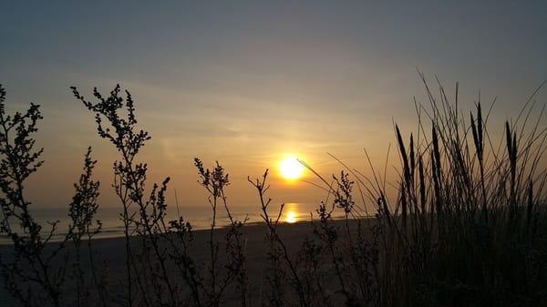 Sonnenaufgang am Heringsdorfer Strand