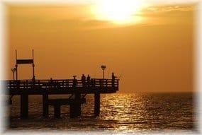 Sonnenuntergang Seebrücke Rerik