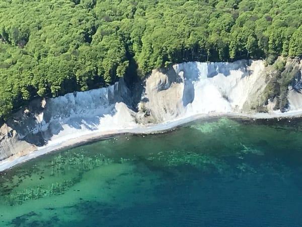 Unsere wunderschöne Kreideküste, Aufnahme bei einem Rundflug