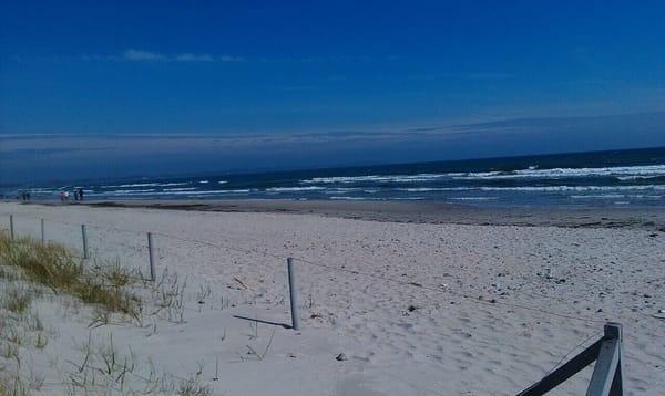 Herbstlicher Strand in Glowe