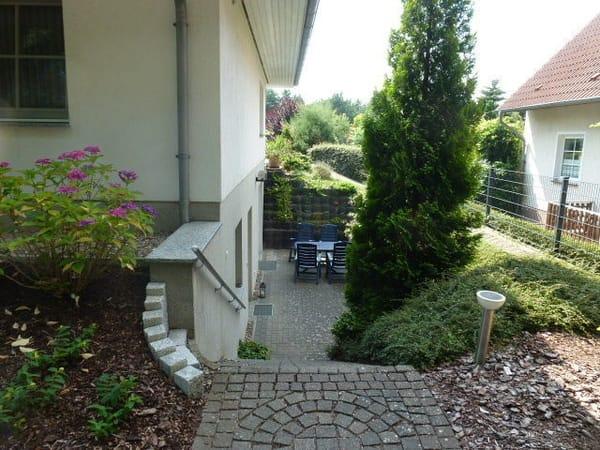Treppe zur Wohnung /Terasse