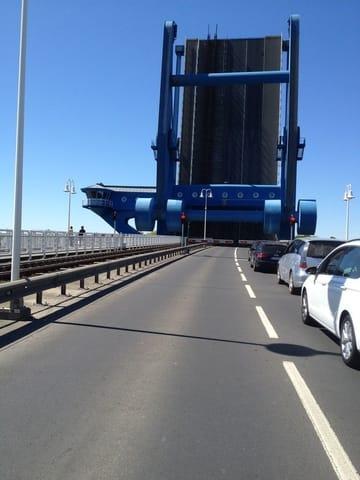 Das Blaue Wunder(Brücke gerade oben,zur Insel Udesom)